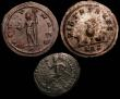 London Coins : A148 : Lot 1463 : Bil.Antoniniani (2) Claudius II, Antioch 268, rev. Neptune holding dolphin and trident (RCV 11353) G...