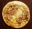 London Coins : A148 : Lot 1491 : Gold Crown Charles I Group D, Fourth Bust, with falling lace collar S.2715 mintmark Portcullis NVF/G...