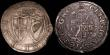 London Coins : A148 : Lot 1588 : Shillings (2) Charles I  Round garnished shield, no CR S.2791 mintmark Crown NVF, Commonwealth 1653 ...