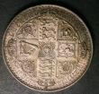 London Coins : A148 : Lot 1718 : Crown 1847 Gothic UNDECIMO ESC 288 EF toned
