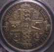 London Coins : A148 : Lot 1719 : Crown 1847 Gothic UNDECIMO ESC 288 nFDC and attractively toned, the bust frosted, graded PCGS PR64 a...