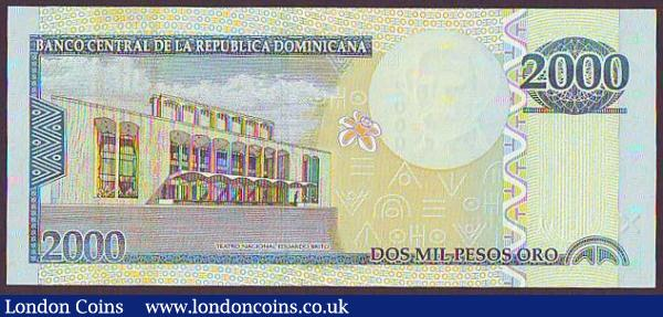 Dominican Republic 2000 Pesos Oro dated 2010 series BS9520465, Pick181c, UNC : World Banknotes : Auction 148 : Lot 219