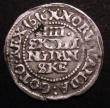 London Coins : A148 : Lot 684 : Denmark 4 Skilling 1616 KM#55.2 Fine, scarce
