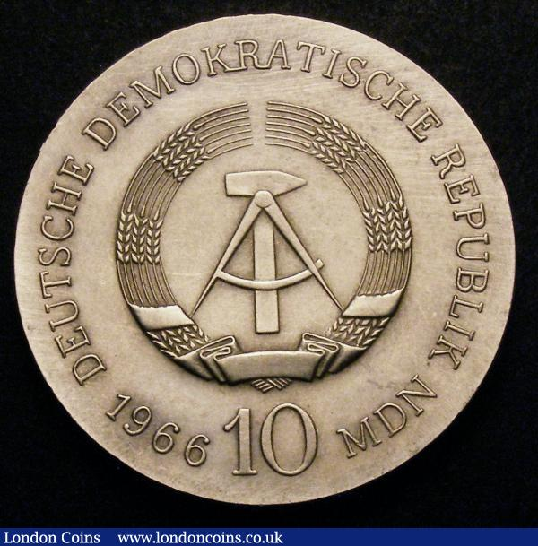 Germany - Democratic Republic 10 Marks 1966 125th Anniversary of the Death of Karl Friedrich Schinkel KM#15.1 UNC, Rare : World Coins : Auction 148 : Lot 724