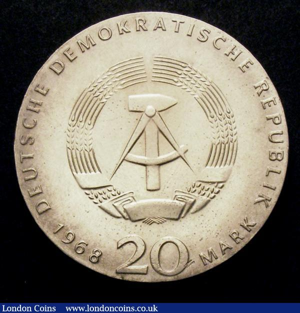 Germany - Democratic Republic 20 Marks 1968 Karl Marx KM#21 Lustrous UNC with a few minor hairlines : World Coins : Auction 148 : Lot 726