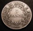 London Coins : A148 : Lot 787 : Italian States - Lucca 5 Franchi 1805 KM#24.2 Fine with some scratches in the obverse field