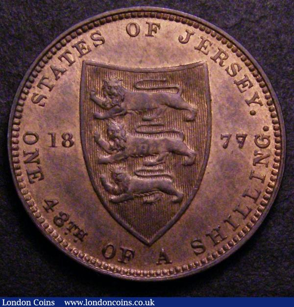 Jersey 1/48th Shilling 1877 S.7008 UNC and lustrous with a couple of small spots : World Coins : Auction 148 : Lot 802
