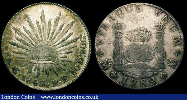 Mexico (2) 8 Reales 1849 Guanajuato Mint KM#377.8 EF, 8 Reales 1769 MF Fine Ex-Mount : World Coins : Auction 148 : Lot 804