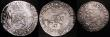 London Coins : A148 : Lot 818 : Netherlands (2) - Utrecht Half Daalder 1622 KM#11.1 About Fine with some uneven dark tone in the leg...