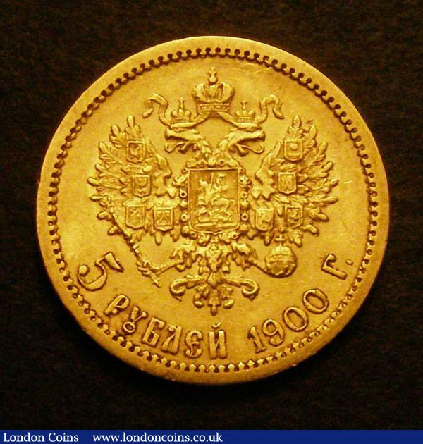 Russia 5 Roubles 1900 nEF : World Coins : Auction 148 : Lot 840