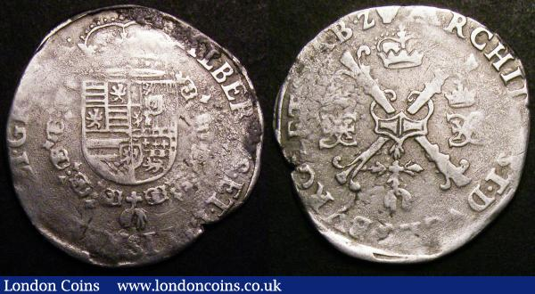 Spanish Netherlands - Brabant Quarter Patagon Albert and Elizabeth undated issues KM#34.1 (2) VG to Near Fine : World Coins : Auction 148 : Lot 866