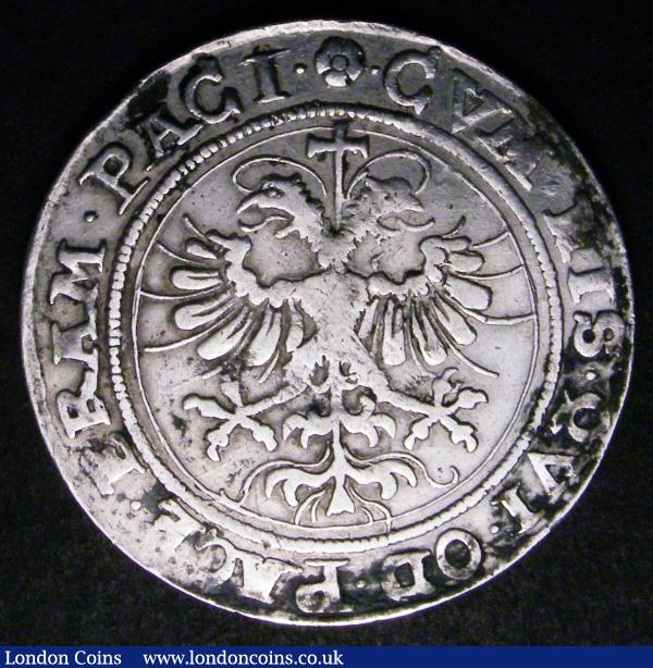 Swiss Cantons - Zug Half Thaler 1620 KM#28 Fine with some dirt in the legends : World Coins : Auction 148 : Lot 889
