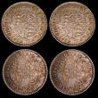 London Coins : A149 : Lot 1077 : British West Indies 1/16th Dollars 1822 (4) KM#1 A/UNC with matching tone