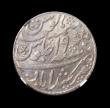 London Coins : A149 : Lot 1187 : India Bengal Presidency Rupee Year 19 Oblique Milling KM#109 NGC MS62