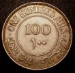 London Coins : A149 : Lot 1277 : Palestine 100 Mils 1933 KM#7 GEF with a small edge bruise, rare