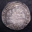 London Coins : A149 : Lot 1673 : Fourpence 1646 Charles I Bridgnorth S3042 EF with a pleasing tone obverse with evidence of double st...