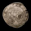 London Coins : A149 : Lot 1834 : Shilling Commonwealth 1656 No stops at mintmark ESC 995B Near Fine with a small flan crack at 7 o...