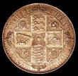 London Coins : A149 : Lot 1902 : Crown 1847 Gothic UNDECIMO Proof ESC 288 UNC/AU with blue and gold tone