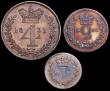 London Coins : A149 : Lot 2319 : Maundy Part Set 1831 (3 coins) Fourpence, Twopence and Penny GVF to EF with a colourful matching ton...