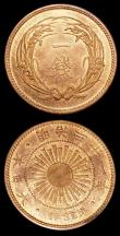 London Coins : A150 : Lot 1086 : Japan 1 Sen Year 31 (1898) Y#20 (2) both UNC with around 40-50% lustre