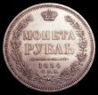 London Coins : A150 : Lot 1187 : Russia Rouble 1854 CΠБ HI C#168.1 EF and lustrous with some light contact marks