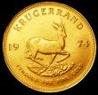 London Coins : A150 : Lot 1211 : South Africa Krugerrand 1974 KM#73 UNC or near so with some contact marks
