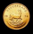 London Coins : A150 : Lot 1212 : South Africa Krugerrand 1974 Unc