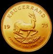 London Coins : A150 : Lot 1214 : South Africa Krugerrand 1975 KM#73 UNC with some minor rim nicks
