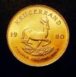 London Coins : A150 : Lot 1225 : South Africa Krugerrand 1980 Unc