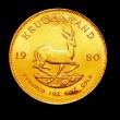 London Coins : A150 : Lot 1227 : South Africa Krugerrand 1980 Unc