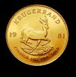 London Coins : A150 : Lot 1229 : South Africa Krugerrand 1981 Unc