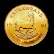 London Coins : A150 : Lot 1230 : South Africa Krugerrand 1981 Unc