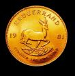 London Coins : A150 : Lot 1231 : South Africa Krugerrand 1981 Unc
