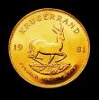 London Coins : A150 : Lot 1232 : South Africa Krugerrand 1981 Unc