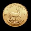 London Coins : A150 : Lot 1234 : South Africa Krugerrand 1981 Unc