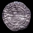 London Coins : A150 : Lot 1786 : Penny Henry VIII Second Coinage Sovereign type, Archbishop Wolsey, Durham Mint, TW beside shield, ca...
