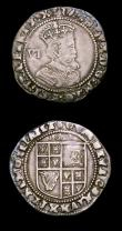 London Coins : A150 : Lot 1800 : Shilling Charles I Group D, Tower Mint, type 3a with no inner circles, round shield, No CR S.2791 mi...