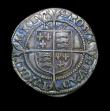 London Coins : A150 : Lot 1832 : Sixpence Elizabeth I 1567 S.2567 mintmark Coronet Good Fine toned, with shortage of flan at 9 o'...