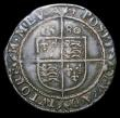 London Coins : A150 : Lot 1836 : Sixpence Elizabeth I Fifth Issue 1580 S.2572 mintmark Latin Cross Good Fine with a thin scratch on t...