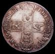 London Coins : A150 : Lot 1866 : Crown 1687 ESC EF or very near so the obverse softly struck with some haymarking, and adjustment lin...