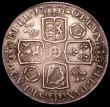 London Coins : A150 : Lot 1878 : Crown 1720 20 over 18 ESC 113 VF the reverse with brooch mount marks at 3 and 9 o'clock these h...