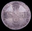 London Coins : A150 : Lot 2316 : Halfcrown 1703 VIGO ESC 569 GVF nicely toned with a small contact mark on the Queen's cheek and...