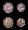 London Coins : A150 : Lot 2522 : Maundy Set 1887 ESC 2501 A/UNC to UNC and nicely toned