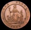 London Coins : A150 : Lot 2582 : Penny 1860 Pattern in copper by Moore Peck 2120, Freeman 847 Obverse 1, Reverse C, UNC the reverse w...