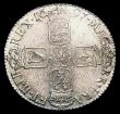 London Coins : A150 : Lot 2649 : Shilling 1697 Third Bust ESC 1102 EF or better with light adjustment lines