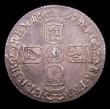 London Coins : A150 : Lot 2798 : Sixpence 1697 Third Bust, Later Harp, Large Crowns ESC 1566 EF slabbed and graded CGS 65