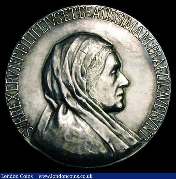 "Memorial Medal for Fran Carol Marshall, silver, 40mm., obv. bust left, rev. inscription within wreath ""NATA XXI MAII MDCCCXII DENATA XVIII IVNII MCMI and below ANNO AETATIS NONAGESIMO, Death of Frederick Duke of York 1827 40mm diameter in bronze Eimer 1189 var GEF, Queen Caroline Return to England 1820 40mm diameter in bronze Eimer 1130 GEF : Medals : Auction 150 : Lot 735"