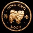 London Coins : A151 : Lot 1023 : Hong Kong $1000 1982 Year of the Dog Gold Proof KM#50 nFDC uncased in capsule