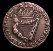 London Coins : A151 : Lot 1055 : Ireland Halfpenny 1692 S6597 VF with some very light verdigris obverse which hardly detracts, scarce...