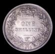 London Coins : A151 : Lot 1617 : Shilling 1873 ESC 1325, Die Number 83, CGS type SH.V1.1873.01, Choice UNC and lustrous, slabbed and ...